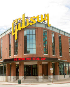 Memphis, TN, USA - September 15, 2014 :  Gibson Guitar factory showcase located on Beale Street in Memphis TN